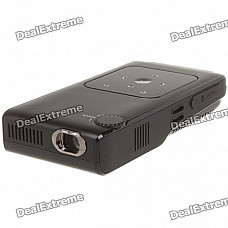 V50 Portable Mini Rechargeable Multi-Media Player Projector w/ AV/Mini USB/SD Slot - Black