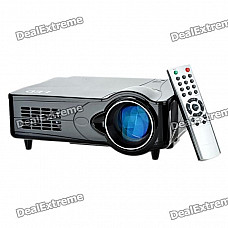 """D9H 5"""" LCD LED Projector with HDMI / VGA / Scart / YPbPr / TV / S-Video - Black"""