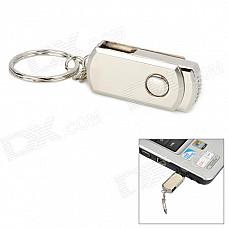 Aluminum Rotation USB 2.0 Flash Drive Keychain - Silver (4GB)