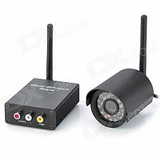 2.4GHz 100mW Wireless Receiver Kit w/ 24-LED Camera - Black