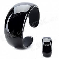 Bluetooth V2.0 + EDR Bracelet w/ Answer Call + Vibration Function + Digital Time - Black
