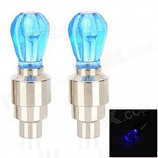 Motorcycle 4.5W 5lm LED Blue Light Tire Lamps - Blue + Silver (3 x AG10 / 2 PCS)