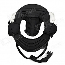 Motorcycle Cycling Neck Brace Support - Black + White (Free Size)