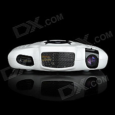 HK720 Portable Smart Mini Multimedia Player LCOS Projector w/ HDMI / VGA / AV / SD - White