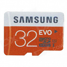 Genuine Samsung Micro SD / TF Memory Card - Black + Orange (32GB / Class 10)