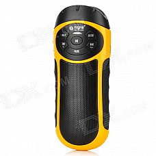 SEE ME HERE RV77 Multifunction 2-in-1 Portable Outdoor Riding Amplifier Lighter - Black + Yellow