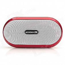 SinGBOX SV-507 Portable Amplifier Speaker w/ FM for Iphone + MP3 - Red