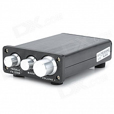 FeiXiang FX-152E 15W Digital HiFi Amplifier - Black + Silver