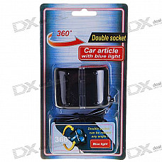 1-to-2 Car Cigarette Lighter Power Port Splitter