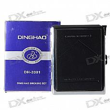 2-in-1 Cigarette Case with Butane Lighter (Holds 10 Cigarettes)