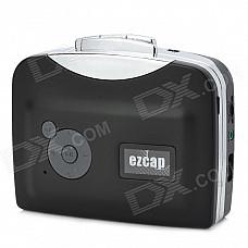 Ezcap230 Convenient Cassette Tape to MP3 USB Flash-drive Hot Swapping Converter - Black