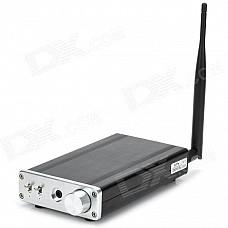 FX-AUDIO- FX1602S Mini 160W x 2 Hi-Fi Bluetooth Digital Amplifier - Black + Silver