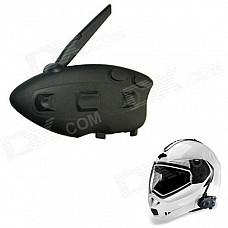 BT-12082 Racing / Motorcycle / Bicycle / Ski Helmet 500m Intercom Bluetooth Interphone - Black