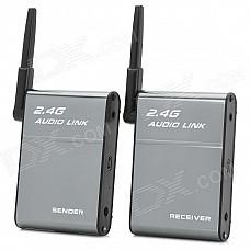 BX-501 Universal 2.4GHz Wireless Speaker Transmitter + Receiver Set - Grey + Black