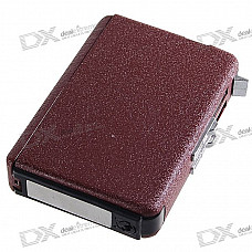 2-in-1 Cigarette Case with Butane Jet Torch Lighter (Holds 10 Cigarettes)