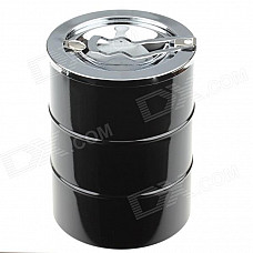4477 Extrusion Switch Stainless Steel Ashtray - Black + Silver