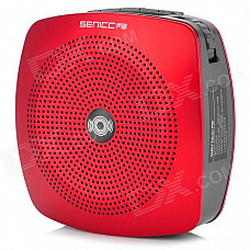 SENICC K510 Portable Multifunction Amplifier Speaker w/ TF / FM Radio - Red + Deep Grey