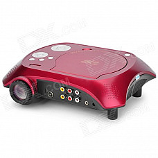 Portable Home Theater DVD Projector - Red + Black + Silver