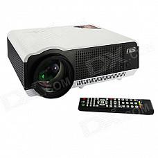 EJIALE EPW58H HD 1280 x 800 200W LED Projector w/ HDMI + USB + VGA + AV in/out + TV - White + Black