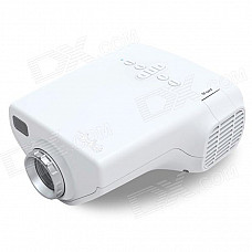 E03 16W Mini LED Projector w/ HDMI / USB / VGA / Micro SD / TV - White