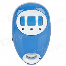 201 Mini SIRF3 GPRS / GSM Position Tracker w/ Strap - Blue + White (EU 100~240V)