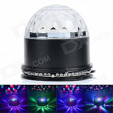 15W 48-LED RGB Sunflower Light + 3 x 3W RGB Cystal Magic Ball Dream light - Black (85~266W)