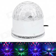 15W 48-LED RGB Sunflower Light + 3 x 3W RGB Cystal Magic Ball Dream light - White (85~266W)