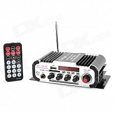 HY600 2 Sound Tracks Car Motorcycle Hi-Fi Power Amplifier w/ Karaoke / USB / FM