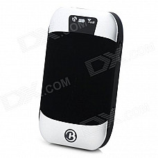 GPS303 GSM / GPRS / GPS Car / Handheld Positioning Tracker Device - Black + Silver White