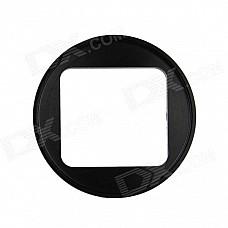 HighPro Precision CNC Aluminum Alloy 52mm Lens Converter Ring for GoPro Hero3 Housing - Black