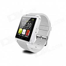 "COOSPO U Watch 8 1.48"" TFT Bluetooth Wearable Smart Sport Watch for IPHONE / Samsung / HTC - White"