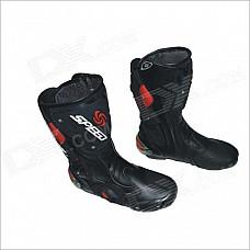 B1001 Motorcycle Protective Waterproof Boot Shoe - Black (Size 43)