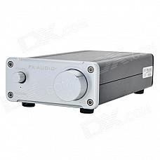 FEIXIANG FX502S 2 x 80W Hi-Fi 2.0-CH Digital Power Amplifier - Silver + Black (100~240V)
