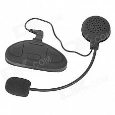 Helmet Mounted Waterproof Bluetooth Microphone Walkie Talkie System Headset for Motorcycle - Black