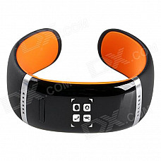 AOLUGUYA CM01 Touch Screen Bluetooth Bracelet Smart Watch for IPHONE + More - Black + Orange