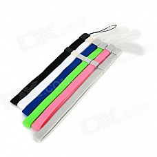 Fiber Cloth + ABS Straps w/ Buckle for Wii / Wii U - Multicolored (6 PCS)