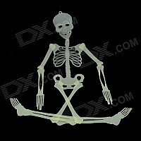 Skull Skeleton Style Glow-in-the-Dark Gadget for Halloween - Green