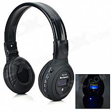 BS-862 Bluetooth V3.0 Headband Headphone w/ Microphone / FM / TF - Black