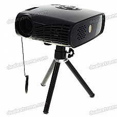 Mini Home/Office Multimedia Player + LCoS Projector with Mini VGA/AV/USB Host/Mini USB/SD Card