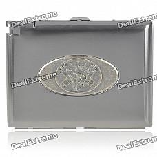 2-in-1 Cigarette Case with Butane Lighter - American eagle (Holds 20 Cigarettes)