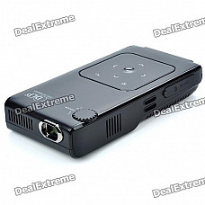 Portable Mini Home/Office Cinema 720P Multimedia Player DLP Pico Projector with AV/SD Card Slot