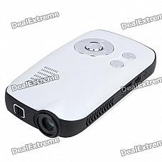 Portable Mini Home / Office Cinema Multimedia Player LCoS RGB Lens Projector w/ AV/TF Slot (4GB)
