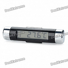 """1.7"""" LCD Digital Thermometer for Car - Random Color (2 x AG3)"""